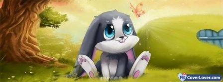 Cute Cartoon Bunny Facebook Covers