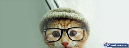 Cute Cat Glasses  Facebook Covers