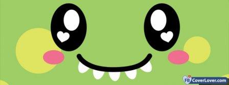 Cute Dinosaur Face Facebook Covers