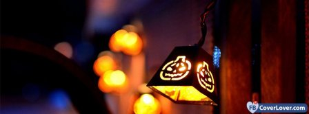 Cute Halloween Lantern Light  Facebook Covers