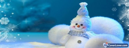 Cute White Snowman  Facebook Covers
