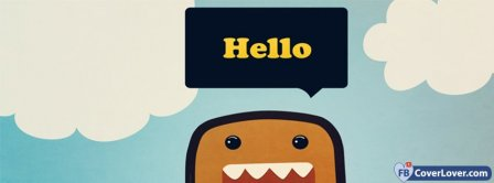 Hello Cutie Domo Facebook Covers