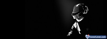 Black And White Daft Punk Facebook Covers