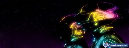 Daft Punk Colorful Helmets Facebook Covers