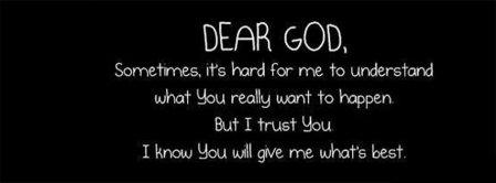 Dear God Facebook Covers