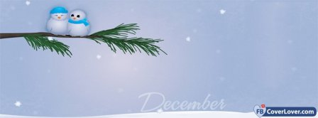 December Winter Snow men Facebook Covers