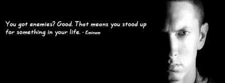 Eminem Quote Facebook Covers