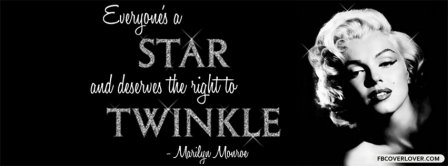 Everyones A Star Marilyn Monroe Facebook Covers