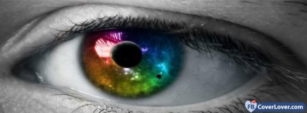 Colorful Eye  Facebook Covers