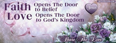 Faith Opens The Door Facebook Covers