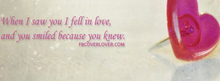 When I Saw You I Fell In Love Facebook Covers