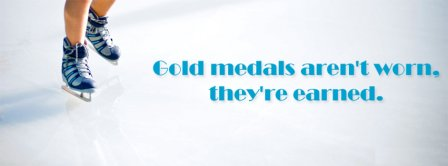 Figure Skating Gold Medals Facebook Covers