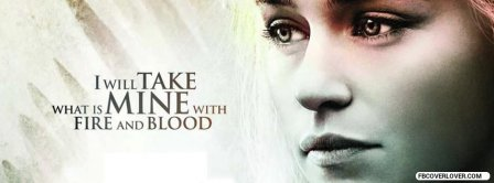 Fire And Blood Quote Facebook Covers