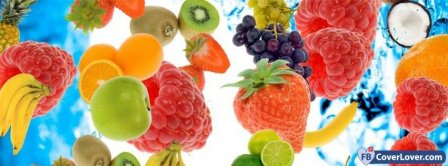 Yummy Colorful Fruits  Facebook Covers