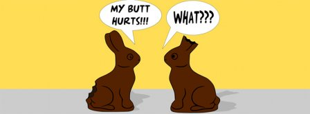 Funny Easter Bunny Facebook Covers