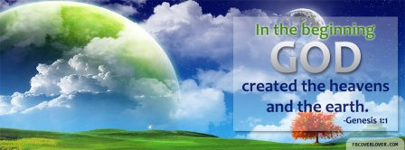 God Created The Heavens Genesis 1 1 Facebook Covers