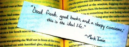 Good Friends Good Books Facebook Covers