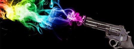 Gunshot Colorful Smoke Facebook Covers