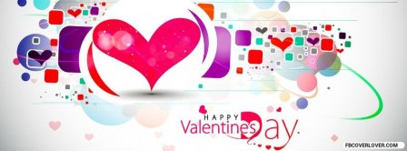 Happy Valentines Hearts Colors Facebook Covers