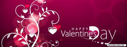 Happy Valentines Day Hearts Tree Facebook Covers