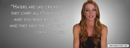 Haters Are Like Crickets Facebook Covers