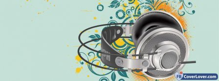 Colorful Headphones  Facebook Covers