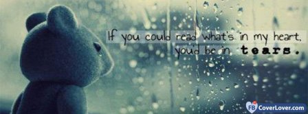 Heart And Tears Quotes Facebook Covers