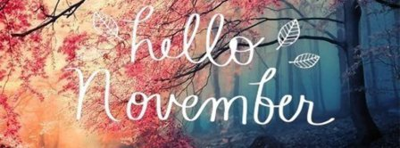 Hello November Leaves Facebook Covers