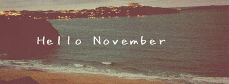 Hello November Sea Facebook Covers