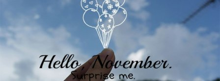 Hello November Surprise Me Facebook Covers