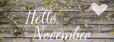 Hello November Wooden Wall Facebook Covers