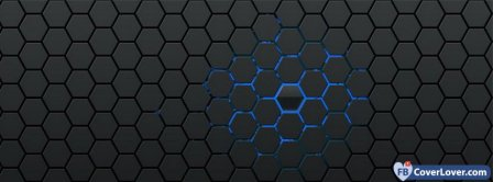 Blue Hexagons Background Facebook Covers