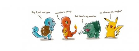 Pokemon Hey I Just Met You Facebook Covers