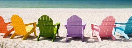 Holiday Colored Beach Chairs Facebook Covers