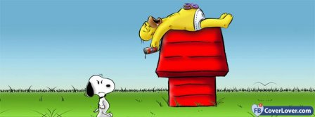 Homer And Snoopy Facebook Covers