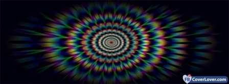 Colorful Hypnotic Background Facebook Covers