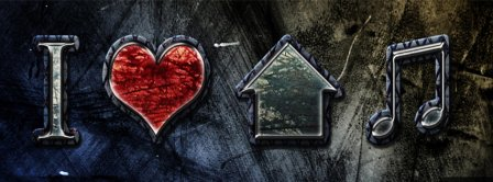 I Love House Music 2 Facebook Covers