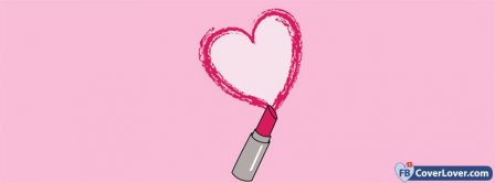 I Love Lipstick Pink Facebook Covers