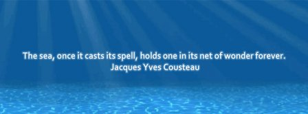 Sea Quote Jacques Yves Cousteau Facebook Covers