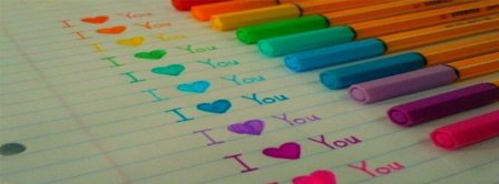 I Love You Colored Pencils  Facebook Covers