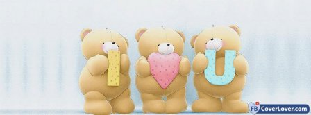 I Love You Cute Teddy Bears Facebook Covers