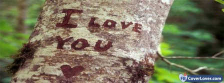 I Love You Carved On A Tree Facebook Covers
