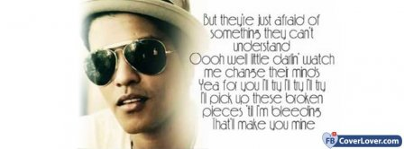 It Will Rain Lyrics Bruno Mars Facebook Covers