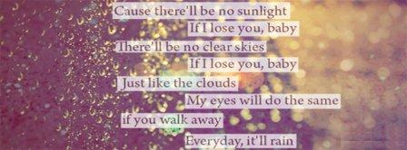 It Will Rain Lyrics 2 Facebook Covers