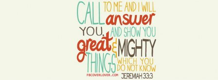 God Will Show You Great Things Jeremiah 333 Facebook Covers