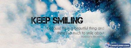 Keep Smiling Marilyn Monroe Facebook Covers