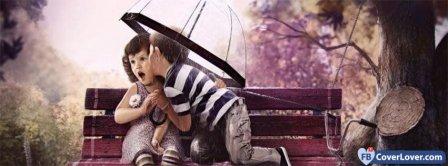Kids Under Umbrella Kiss Facebook Covers