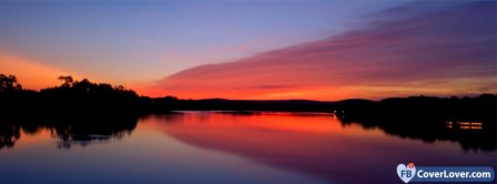 Lake Sunset Facebook Covers