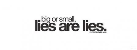 Lies Are Lies Facebook Covers