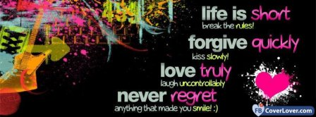 Life Forgive Love Never Facebook Covers